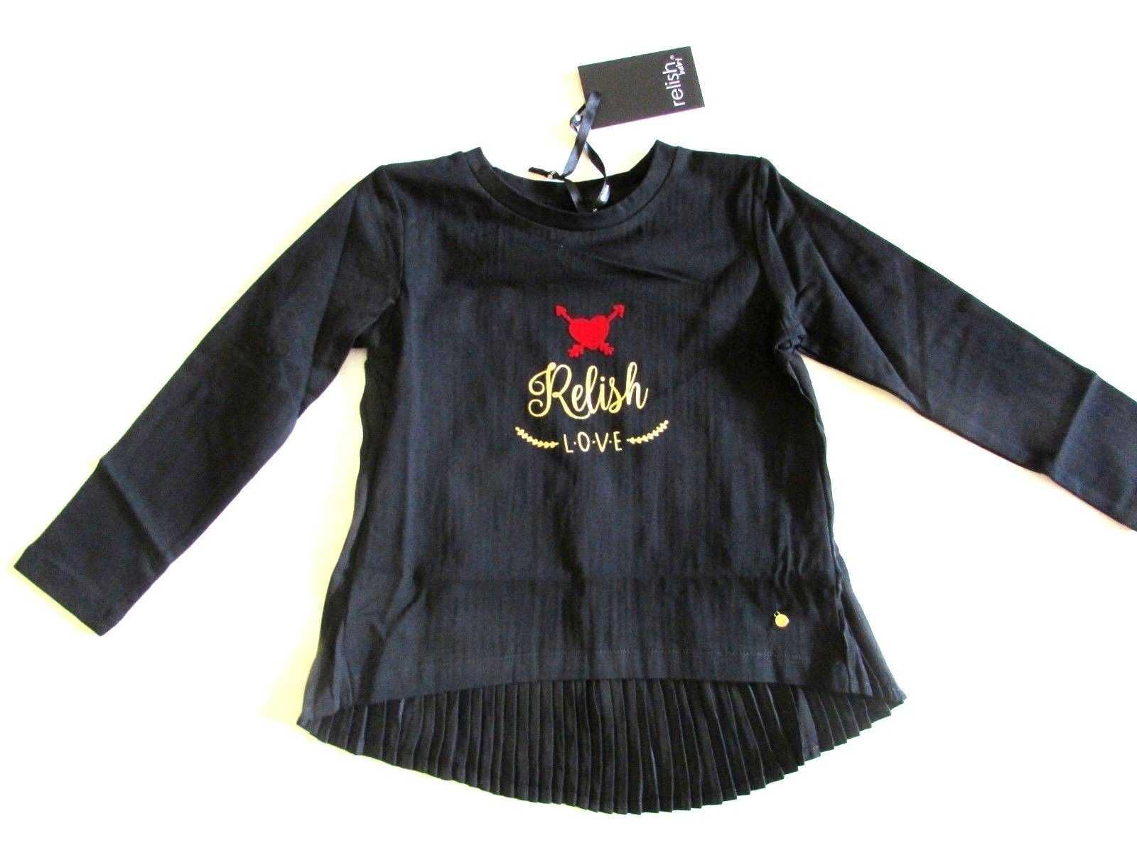 RELISH GIRL T-SHIRT MAGLIA BAMBINA AUTUNNO INVERNO TAGLIA 2 4 6 ANNI ... 10155b71f76